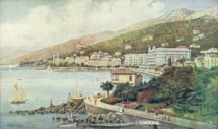 Erwin Pendel: Südstrand von Abazzia, 1911.