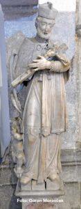 Sv. Ivan Nepomuk iz crkve Uznesenja Marijina (Kosi toranj)