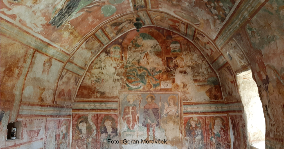Draguć, kapela sv. Roka, freske Antona iz Padova (Kašćerge)