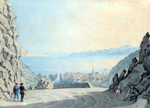 Christian von Maÿr: Pogled na Rijeku s Ugarskih, odnosno Banskih vrata 1832. godine