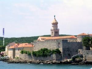 Frankopanski kaštel na Kamplinu i katedrala u gradu Krku