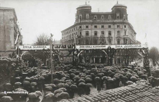 Oduševljenje na Sušaku zbog prestanka talinjanske okupacije 3. ožujka 1923. gofdine