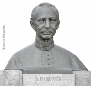 Spomenik dr. Franji Račkom u rodnim Fužinama (rad kipara Rudolfa Valdeca) podignut je 1928. godine povodom stogodišnjice njegovog rođenja
